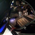 Комфортные пассажирские места с dvd установкой в салоне Мерседес S-222