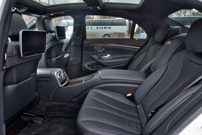 Пассажирские места в авто бизнес класса Mercedes-Benz W222
