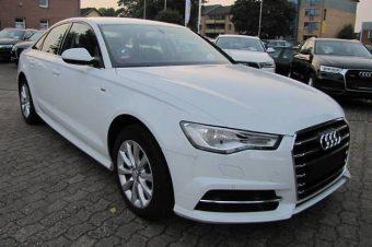 Белый седан Ауди A6